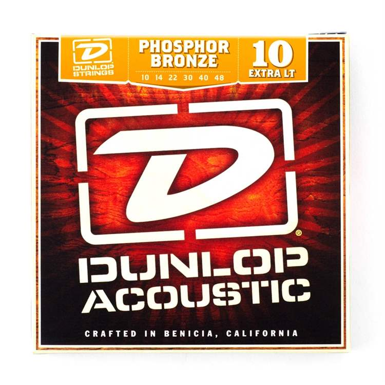 Dunlop DUNLOP DAP1048 Acoustic Phosphor Bronze, Extra Light Set/6