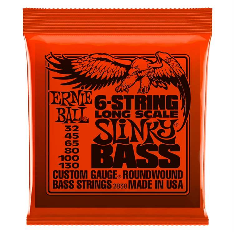 ernie-ball Ernie Ball 2838 Slinky 6-String Bass Nickel Wound Set, Long Scale (32 - 130)