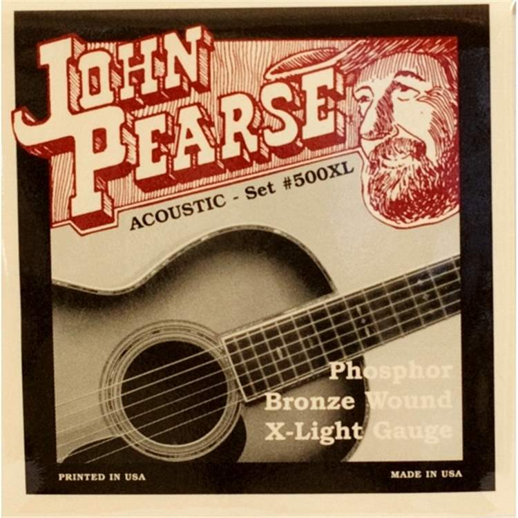 john-pearse JOHN PEARSE ACOUSTIC SET 500XL Corde per chitarre acustica 010-047 Phosphor Bronze