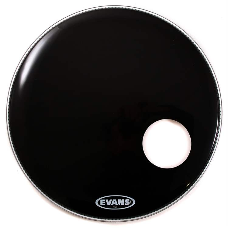 "Evans EVANS EQ3 RESONANT Black 24"" - BD24RB"