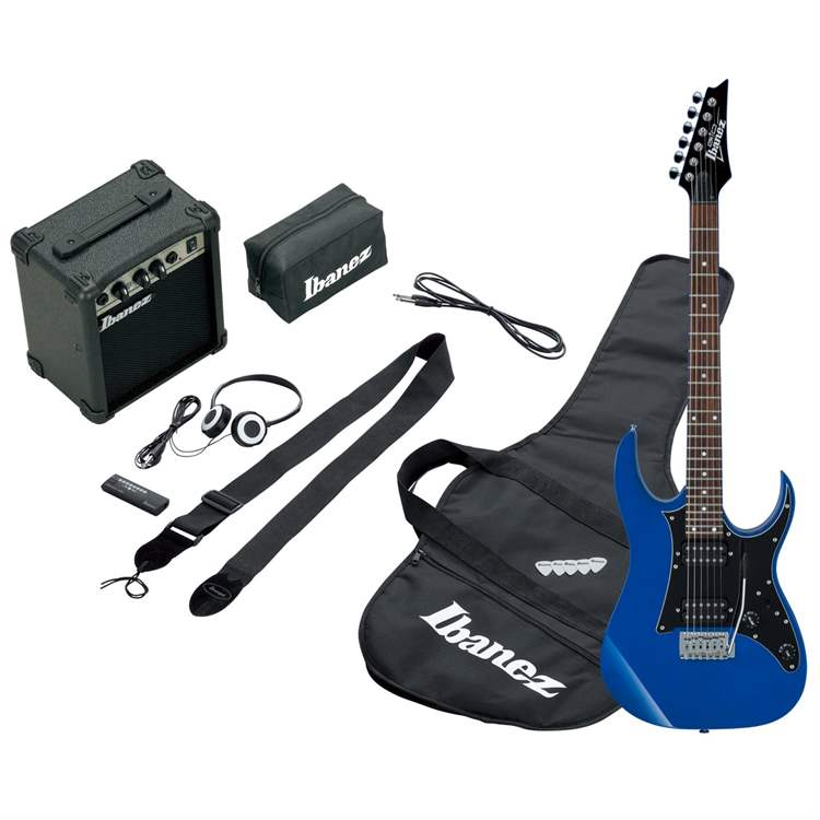 Ibanez Ibanez IJRG200-BL Jumpstart - Blue - kit con amplificatore e cuffie
