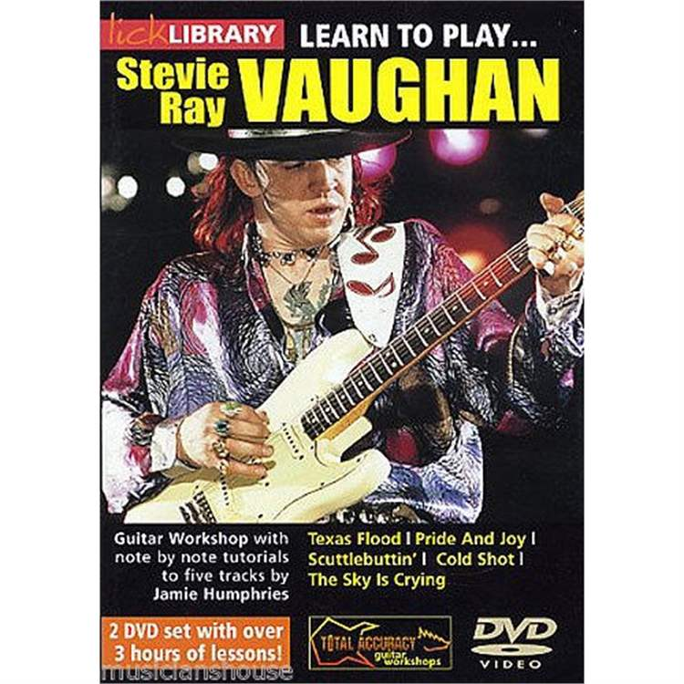 VOLONTE DVD Learn To Play Steve Ray Vaughan 2 dvd Set