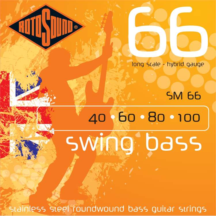 Rotosound ROTOSOUND SM66 - Swing Bass 66 Roundwound Stainless Steel, hybrid