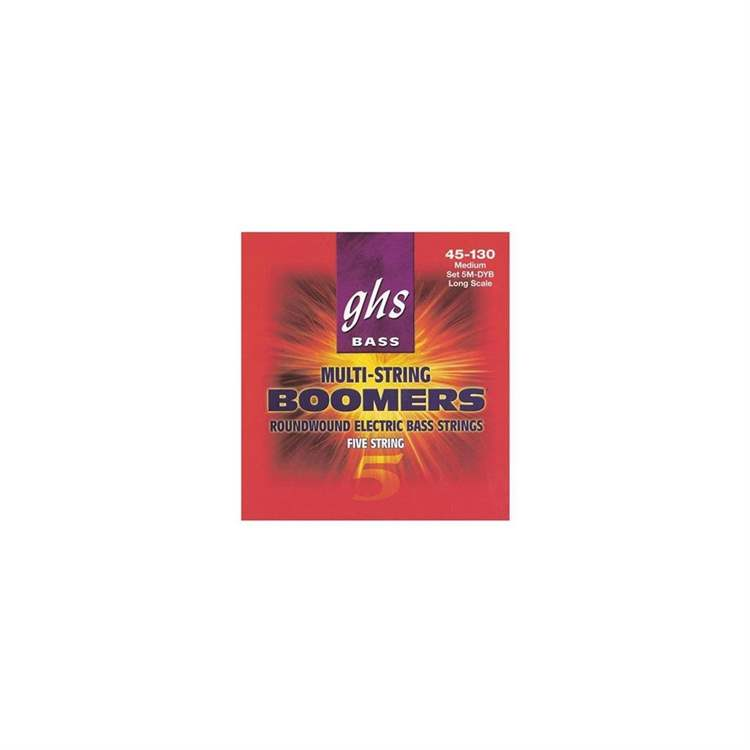 Ghs GHS 5M DYB - Set Bass Boomers 5 corde Medium- Standard Long