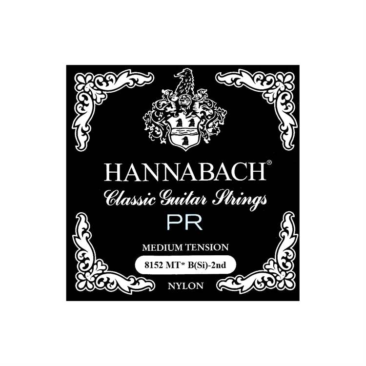 Hannabach HANNABACH F228FF 815 Series String, Silver Special, Medium Tension Black (B2)