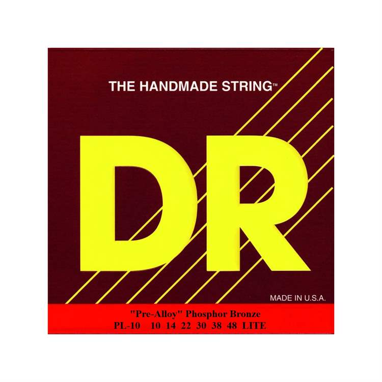 Dr Music DR MUSIC F755F Acoustic Guitar Strings Pre-Alloy Phosphor Bronze, Lite
