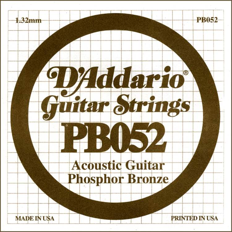 Daddario D'ADDARIO H251HH Phosphor Bronze Wound Acoustic Guitar Single String, .052