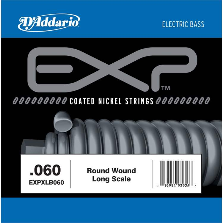 Daddario D'ADDARIO H177HH EXP Coated Nickel Round Wound Bass Guitar Single String, .060
