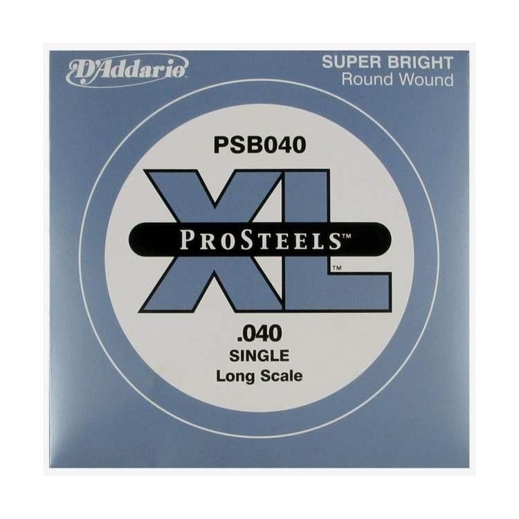 Daddario D'ADDARIO H317HH ProSteels Bass Guitar Single String, Long Scale, .040