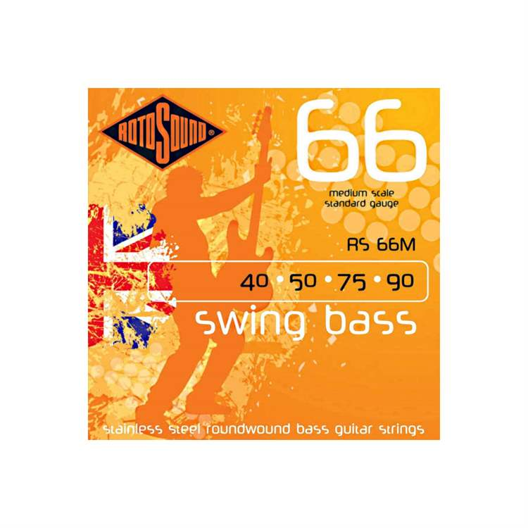 Rotosound PEACE RS66M - Swing Bass 66 Roundwound Stainless Steel, Medium