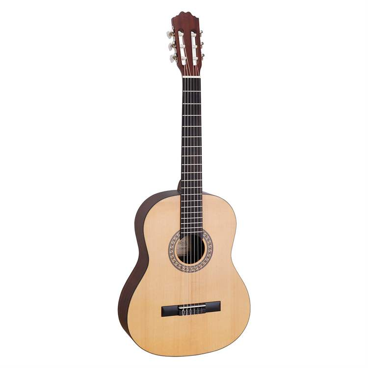 Toledo TOLEDO I508I 4/4 classical guitar feauring satin finish and solid Sitka spruce top