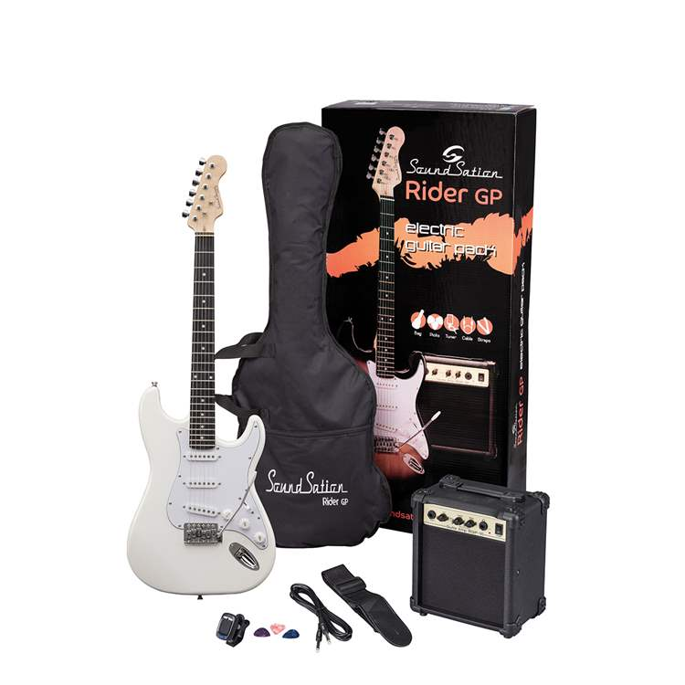 Soundsation SOUNDSATION E687E Guitar Pack elettrico - Vintage White