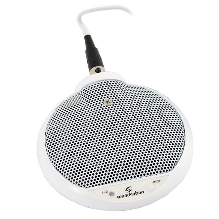 Soundsation SOUNDSATION N052N High Sensibility Boundary Microphone White finishing